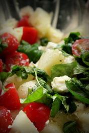 Fruchtiger Tomaten-Melonen-Feta-Salat - Rezept - Bild Nr. 211
