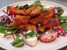 Zwischengericht: Salat mit panierter Hähnchenbrust - Rezept - Bild Nr. 213
