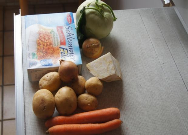 Schlemmerfilet Bordelaise mit Rahm-Kohlrabi und Möhren-Sellerie-Kartoffelstampf - Rezept - Bild Nr. 225