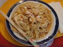 Chinesische Nudeln süß-sauer im Wok mit Hähnchenbrustfilet und Ananas - Rezept - Bild Nr. 236