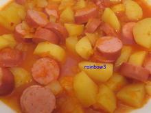 Kochen: Kartoffel-Gulasch mit Würstchen - Rezept - Bild Nr. 236