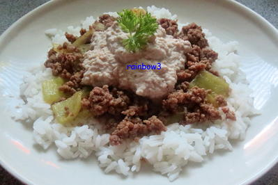 Kochen: Hackfleisch mit Auberginen-Joghurt - Rezept - Bild Nr. 282