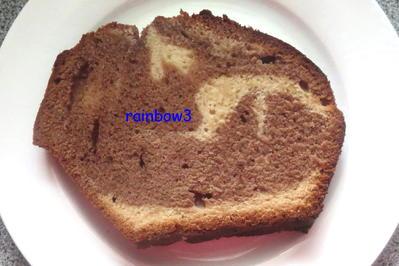 Rezept: Backen: Nougat-Marzipan-Marmorkuchen