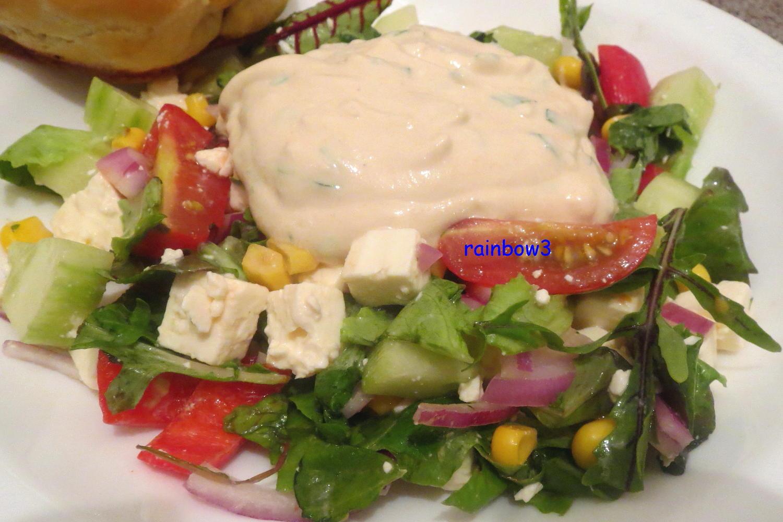 salat bunter salat mit joghurt dressing rezept. Black Bedroom Furniture Sets. Home Design Ideas