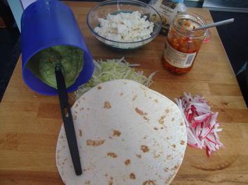 Wraps mit Avocadocreme & Radieschen - Rezept - Bild Nr. 364