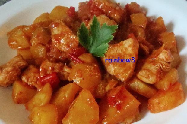 Kochen: Kartoffel-Hähnchen-Pfanne - Rezept - Bild Nr. 319