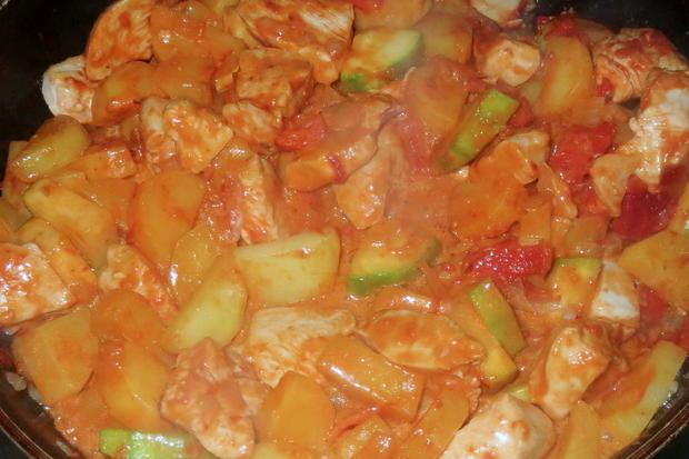 Kochen: Kartoffel-Hähnchen-Pfanne - Rezept - Bild Nr. 320