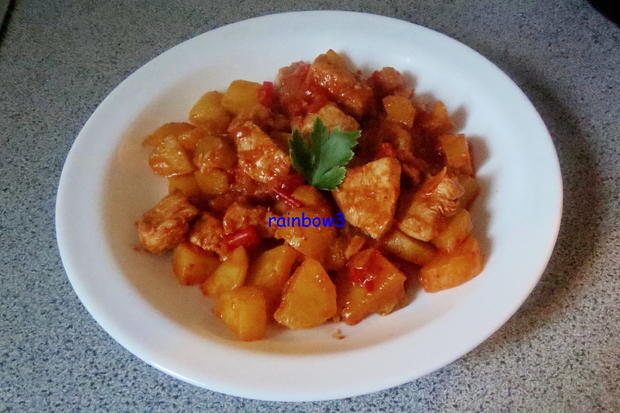Kochen: Kartoffel-Hähnchen-Pfanne - Rezept - Bild Nr. 321