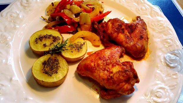 Herzhafte Kartoffeln vom Backblech ... - Rezept - Bild Nr. 329