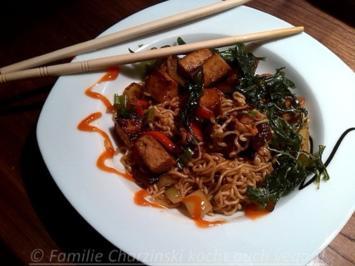 Rezept: Mie Nudeln mit mariniertem Tofu