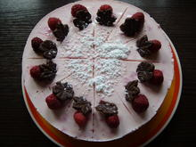 Kleine Frischkäse-Joghurt-Himbeer-Torte - Rezept - Bild Nr. 343