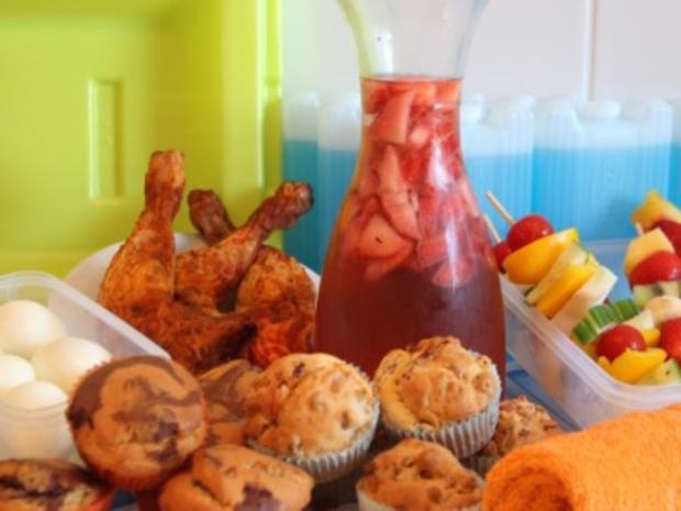 Lunchbox-Rezepte: Pizza- und Marmormuffins, Hähnchenschenkel und kalter Erdbeertee - Rezept - Bild Nr. 361