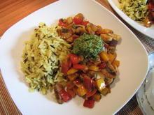 Wokgemüse mit Koriander-Ingwer-Pesto - Rezept - Bild Nr. 364