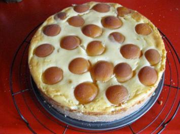 Rezept: Käsekuchen mit Zuckeraprikosen