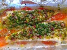 Fisch - Fischfilet mit Kräutermantel in der Folie gegart - Rezept - Bild Nr. 391