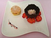 """""""Aufregender Dreier"""": Eis - Erdbeeren - Mandelkuchen - Rezept - Bild Nr. 435"""