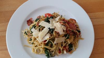 Spaghetti mit Tomaten-Spinat - Rezept - Bild Nr. 501
