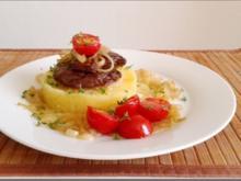 Gebratene Rinderleber auf   Kartoffel-Türmchen - Rezept - Bild Nr. 521