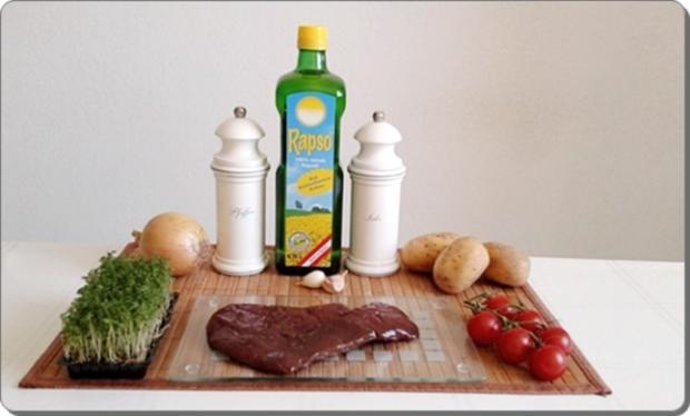 Gebratene Rinderleber auf   Kartoffel-Türmchen - Rezept - Bild Nr. 525