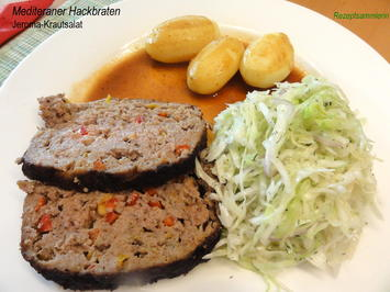 Fleisch:   HACKBRATEN, mediteran gewürzt - Rezept - Bild Nr. 551