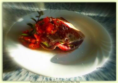 Thunfischsteak mit Avocadofüllung und Tomaten-Mint-Salsa - Rezept - Bild Nr. 552