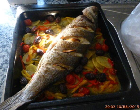 Wolfsbarsch aus dem Ofen - Rezept - Bild Nr. 574