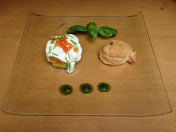 Rezept: Avocado-Mango-Lachstatartörtchen mit Limettencreme