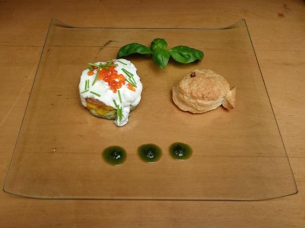 Avocado-Mango-Lachstatartörtchen mit Limettencreme - Rezept - Bild Nr. 586