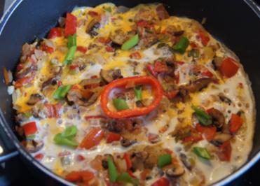 Rezept: Omelett mit Gemüsemix