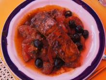 Lachsfilet auf gebratenen Tomatenbett - Rezept - Bild Nr. 592