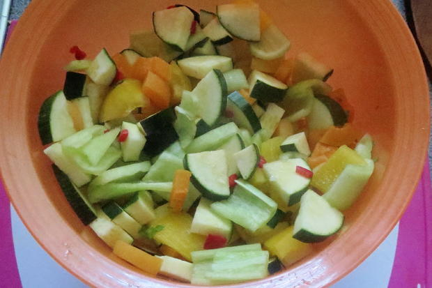 Kochen: Kokos-Hähnchen-Pfanne, fruchtig-scharf - Rezept - Bild Nr. 597