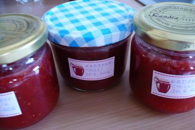 Rezept: Chili - Erdbeer Marmelade