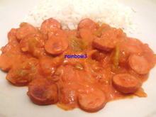 Kochen: Würstchen-Gulasch mit Paprika - Rezept - Bild Nr. 598