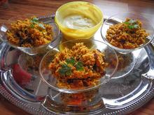"""Salat: Reissalat """"Orient"""" mit Dip - Rezept - Bild Nr. 612"""