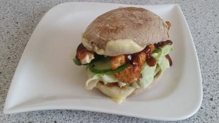 kalorienarmer Barbecue Chickenburger - Rezept - Bild Nr. 1429