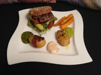 Rind im Korsett / Burger Deluxe - Rezept - Bild Nr. 618