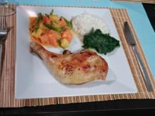 Jerk-Chicken dazu Callaloo und Weißbrot - Rezept - Bild Nr. 618