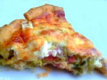 Kuchen herzhaft - Lauch-Käse-Quiche - Rezept - Bild Nr. 694