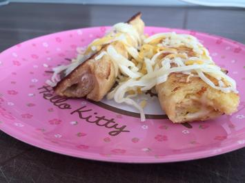 Rezept: French Toast Roll Up: Käse-Senf