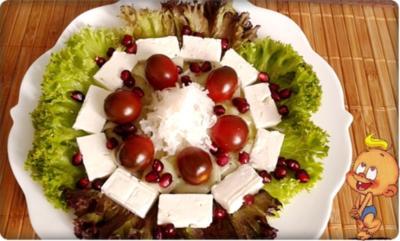 Sommerlicher Lollo rosso Salat mit Meerrettich, Schafskäse, Tomaten  und …. - Rezept - Bild Nr. 737