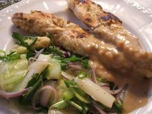Geflügel: Saté-Spieße mit Gurkensalat - Rezept - Bild Nr. 750