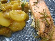 Lachs in Zitronenöl mit Kartoffelsalat - Rezept - Bild Nr. 753