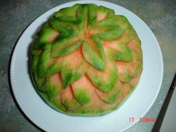 geschnitzte Wassermelone - Rezept - Bild Nr. 816