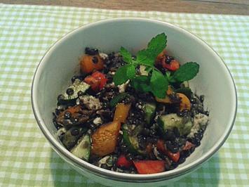 Rezept: Belugalinsen-Salat