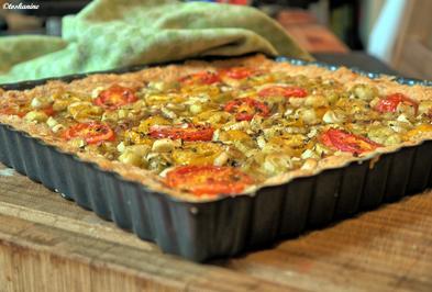 Tomatentarte mit Käseboden - Rezept - Bild Nr. 796