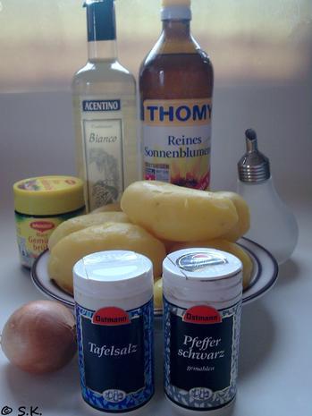 Salat - Kartoffelsalat mal anderst zubereitet, angerichtet - Rezept - Bild Nr. 838