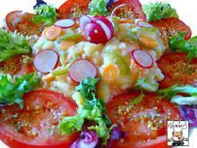 Salat - Kartoffelsalat mal anderst zubereitet, angerichtet - Rezept - Bild Nr. 845