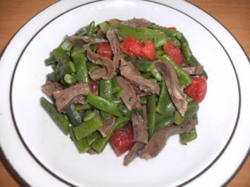 Lammherz - Streifen auf Bohnen-Tomaten-Salat - Rezept - Bild Nr. 889