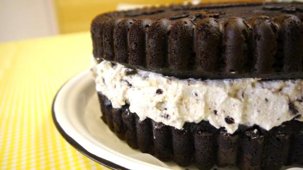 Oreo-Kuchen 'Giant Oreo Cake' - Rezept - Bild Nr. 865
