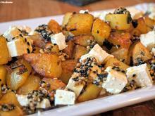 Kartoffelpfanne mit Feta und Ahornsirup-Gewürzsoße - Rezept - Bild Nr. 880